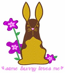 Some Bunny Loves Me embroidery design