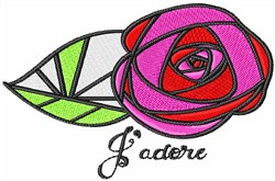 Jadore embroidery design