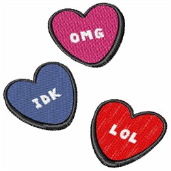 Valentines Hearts embroidery design