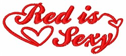 Red Is Sexy embroidery design