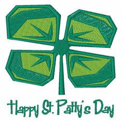 St Pattys Day Clover embroidery design