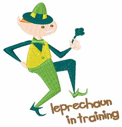 Leprechaun In Training embroidery design