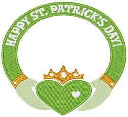 St. Patricks Day Ring embroidery design