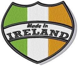 Made In Ireland Crest embroidery design
