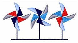 July 4th Pinwheels embroidery design