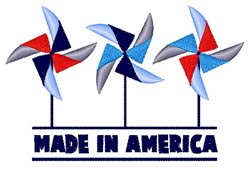 Made In America embroidery design