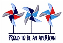 Proud American embroidery design