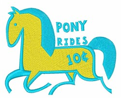 Pony Rides embroidery design