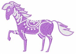 Purple Painted Pony embroidery design