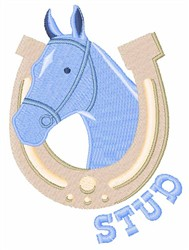 Stud Horse embroidery design