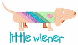 Little Wiener  embroidery design