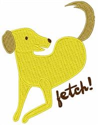 Fetch Retriever embroidery design
