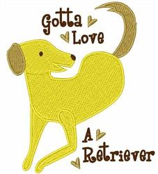 Love A Retriever embroidery design