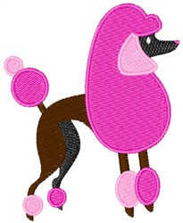 Pink Poodle embroidery design
