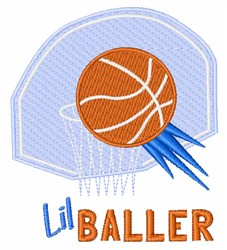 Lil Baller embroidery design