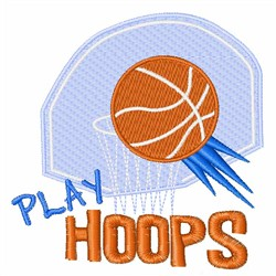 Play Hoops embroidery design