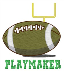 Playmaker embroidery design
