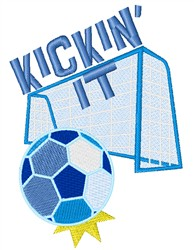 Kickin It embroidery design