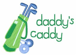 Daddys Caddy embroidery design