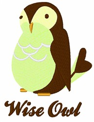Wise Owl embroidery design
