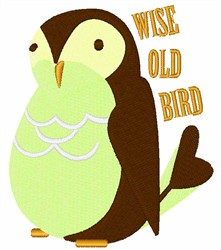 Wise Old Bird embroidery design