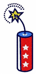 Firecracker embroidery design