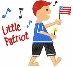 Little Patriot embroidery design