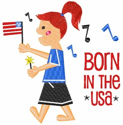 Born In The USA embroidery design