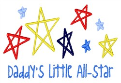 Little All Star embroidery design