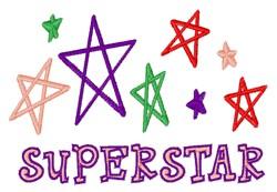 Superstar embroidery design