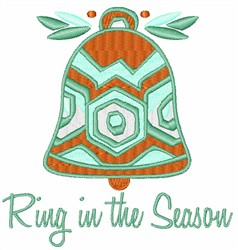 Ring In The Season embroidery design