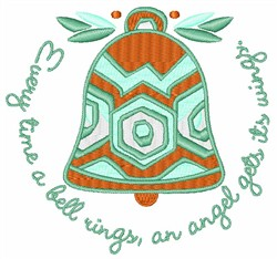 A Bell Rings embroidery design
