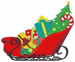 Santas Sleigh embroidery design