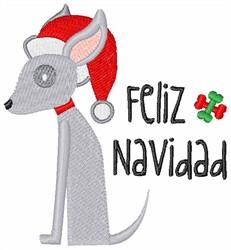 Feliz Navidad embroidery design