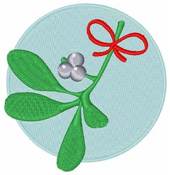Christmas Mistletoe embroidery design