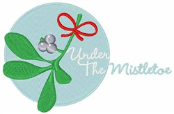 Under the Mistletoe embroidery design