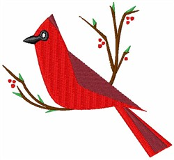 Christmas Cardinal embroidery design