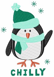 Chilly Penguin embroidery design