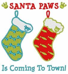 Santa Paws embroidery design