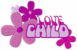 Love Child embroidery design