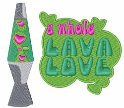 Lava Love embroidery design