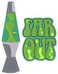 Far Out embroidery design