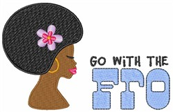 Go With The Fro embroidery design