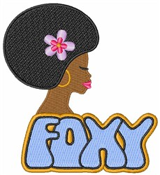 Foxy Woman embroidery design
