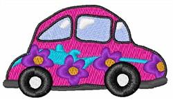 Hippie Love Bug embroidery design