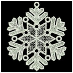 FSL Snowflakes embroidery design