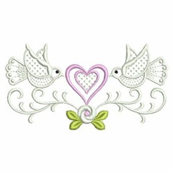 Love Doves Border embroidery design