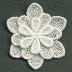 3D FSL Flower embroidery design