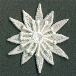 3D FSL Pointy Flower embroidery design