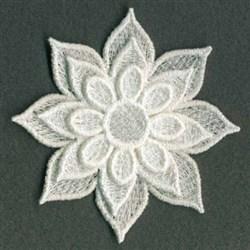 3D FSL Fancy Flower embroidery design